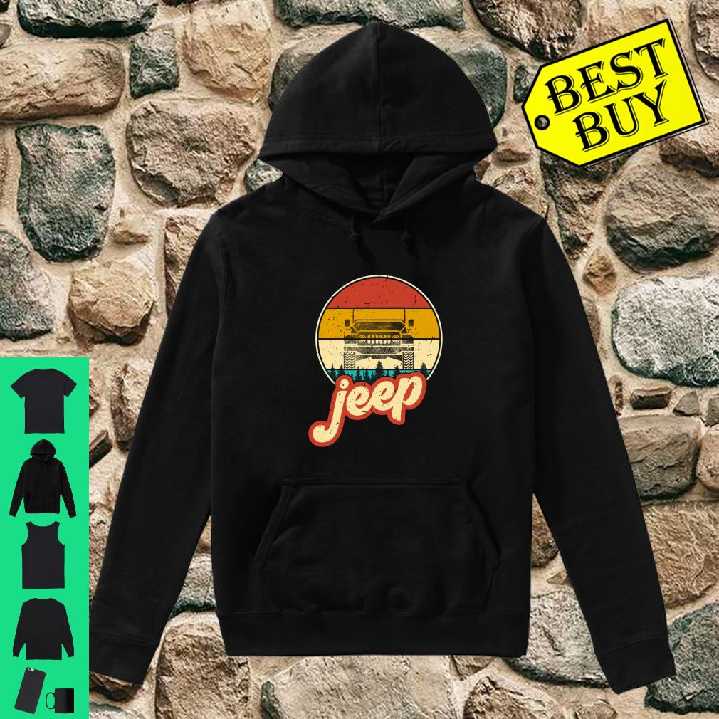 Vintage Jeeps Retro 70s Sunset Off Road shirt hoodie