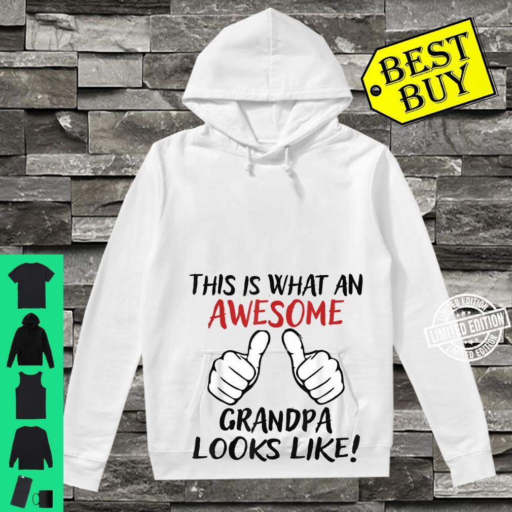 Vintage This Is What An Awesome Grandpa Looks Like Shirt hoodie