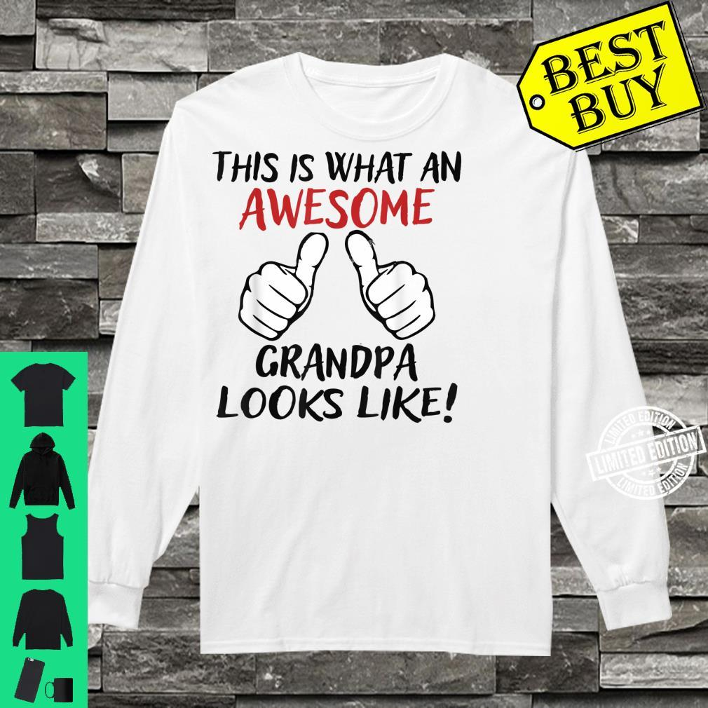Vintage This Is What An Awesome Grandpa Looks Like Shirt long sleeved