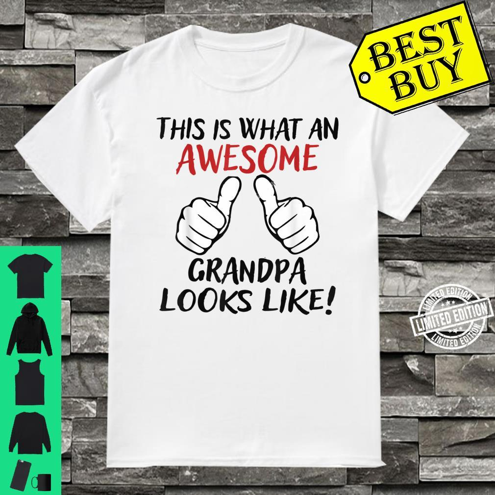 Vintage This Is What An Awesome Grandpa Looks Like Shirt