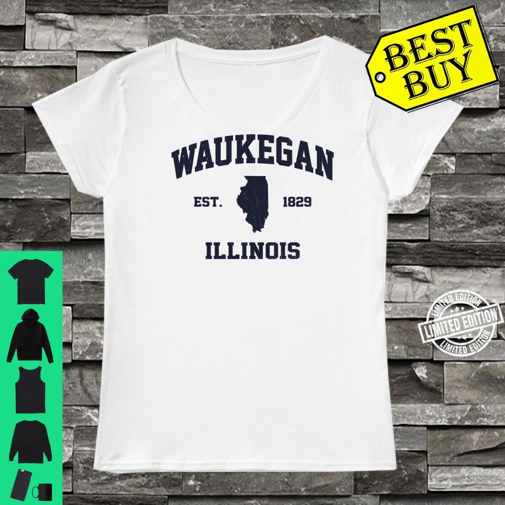 Waukegan Illinois IL vintage state Athletic style Shirt ladies tee