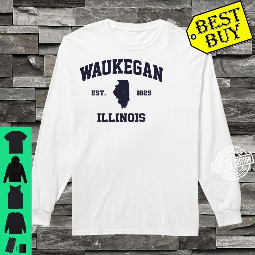 Waukegan Illinois IL vintage state Athletic style Shirt long sleeved