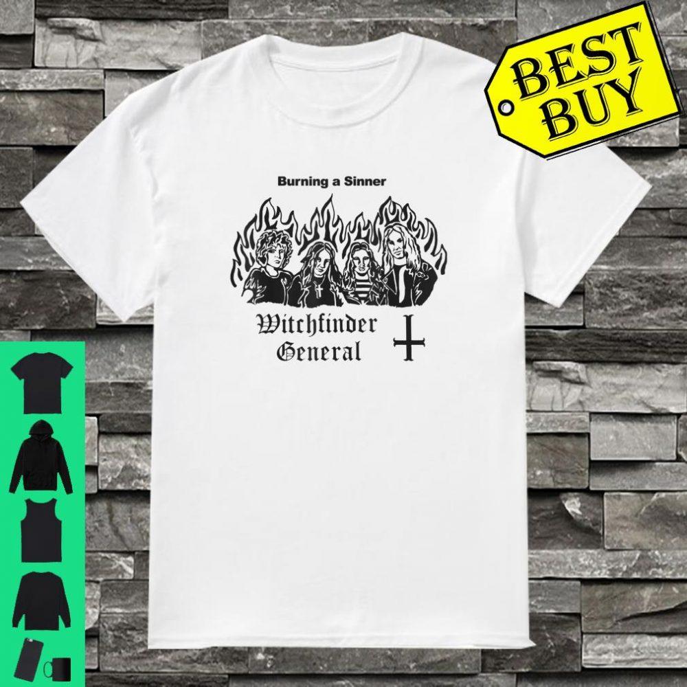 Witchfinder General Burning A Sinner Shirt